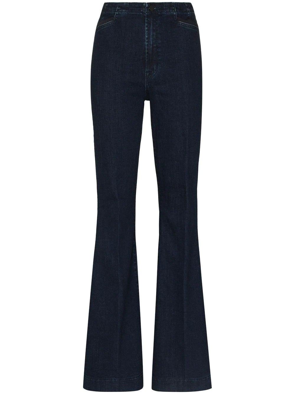 J Brand Dark Blue High Waisted Flared Jeans