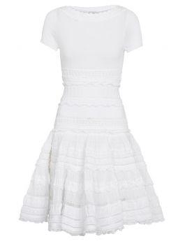 Alaia Edition 2007 flared dress in white cotton crinoline
