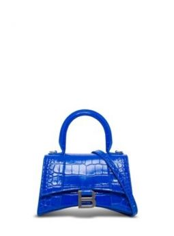 Hourglass XS Top Handle blue bag