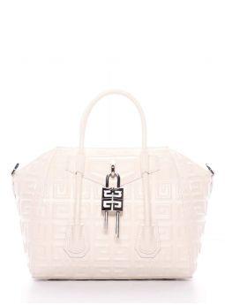 Ivory Antigona Lock Mini 4G Leather Bag