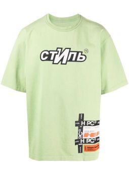 T-shirt verde con logo