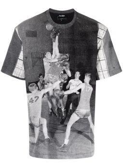 T-shirt grigia con stampa