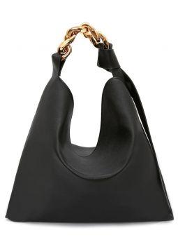 Black large Chain hobo bag