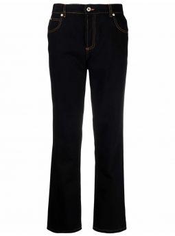 Black anagram pocket tapered jeans