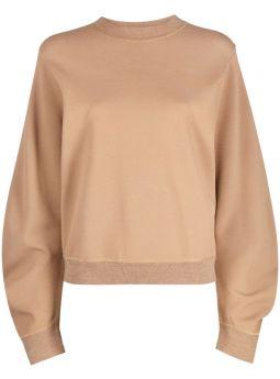 Brown compact crewneck sweatshirt