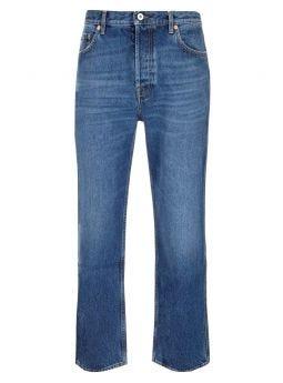 Jeans VLOGO in cotone denim blu