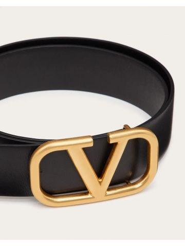 VLogo Signature calfskin belt