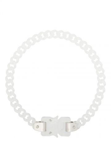 Acrylic mini Cubix chain necklace