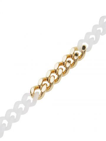 Coloured links mini Cubix chain bracelet