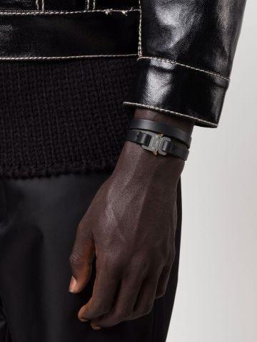 Black Rollercoaster leather bracelet