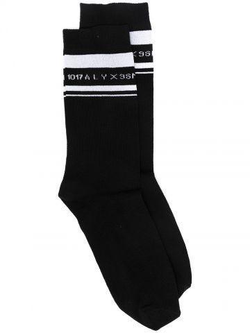 Black logo socks