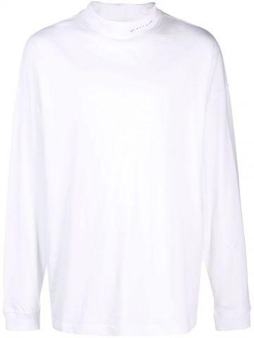 White oversized logo-print T-shirt