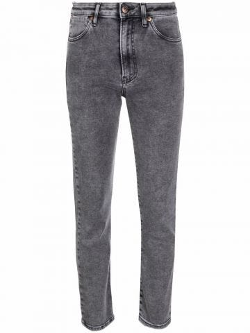 Jeans crop grigi