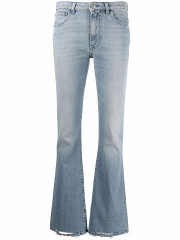 Mid-rise Farrah flared jeans