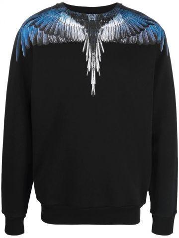 Black blue Wings sweatshirt