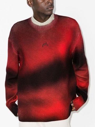 Digital print wool sweater