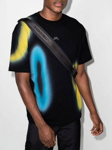 T-shirt with black Hypergraphic print
