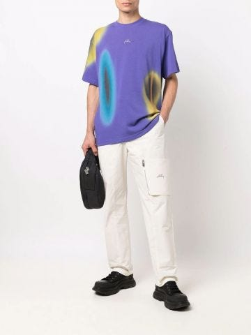 T-shirt with violet Hypergraphic print
