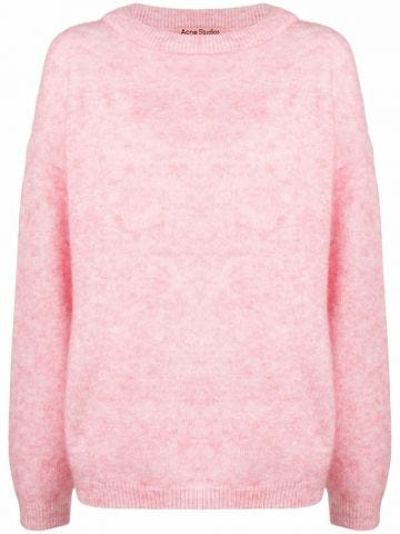 Pink crew-neck jumper
