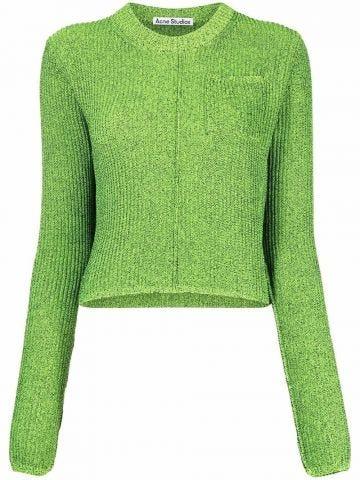 Green crew-neck jumper