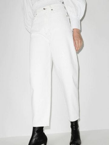 White high-waisted Balloon jeans