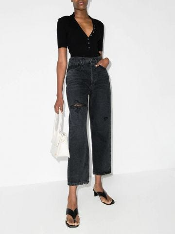 Black 90s high-waisted jeans