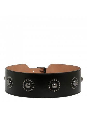 Black Palmelat fleur belt