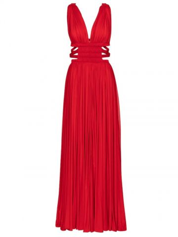 Alaïa Edition 2004 red pleated jersey gown
