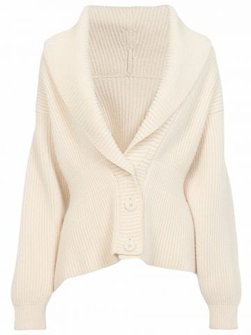 Ivory rib knit cardigan