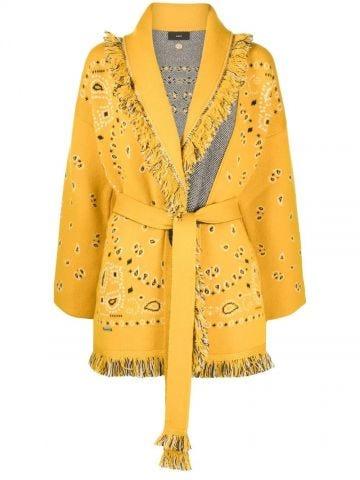 Yellow Bandana jacquard Icon cardigan
