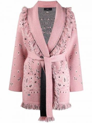 Pink Bandana jacquard Icon cardigan