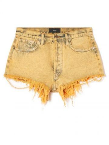 Yellow Valparaiso Wash Denim Shorts