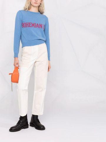 Blue Bohemian Life intarsia-knit cashmere sweater