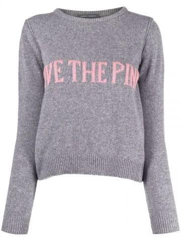 Grey intarsia-knit sweater