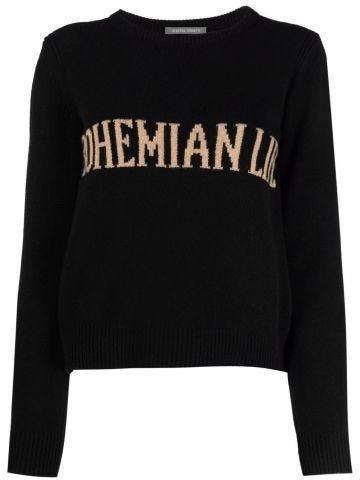 Black Bohemian Life intarsia-knit cashmere oversized sweater
