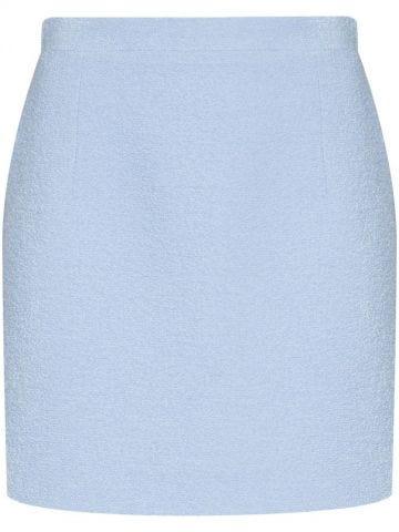 Short light blue skirt