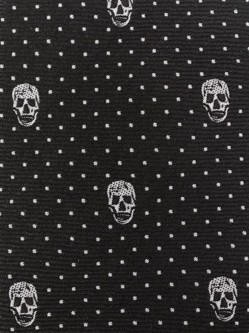 Cravatta nera con motivo Skull jacquard