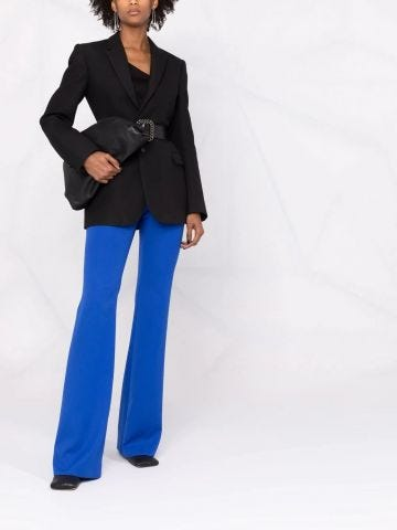 Blue flared tailored pants