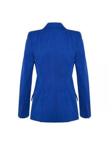 Blue wool tailored jacket