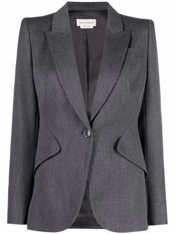 Grey wool tailored jacket
