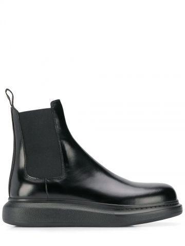 Black Hybrid Chelsea Boot