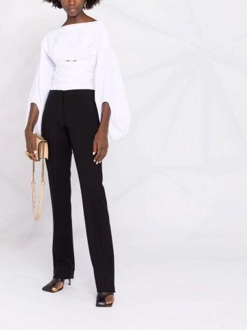 Long black Cigarette Trouser