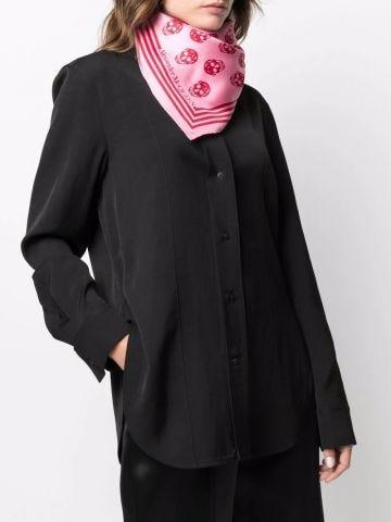 Foulard con teschio rosa