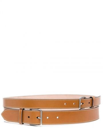 Brown double belt