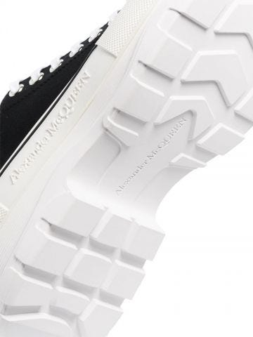Black Tread Slick Lace Up shoes