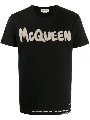 T-Shirt McQueen Graffiti nera