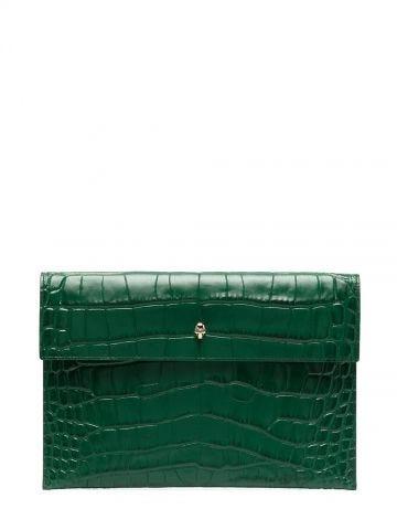 Clutch verde con decorazione