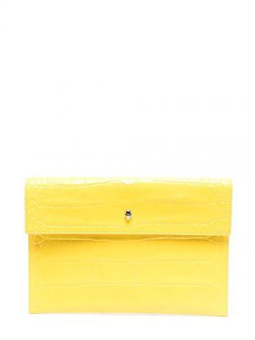 Clutch gialla con decorazione