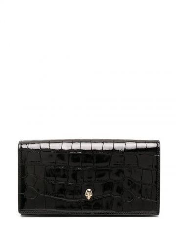 Black Skull continental wallet