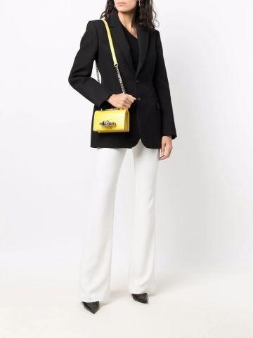 Yellow mini Jewelled Satchel bag